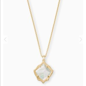 Kendra Scott Gold Mother of Pear Pendant Necklace